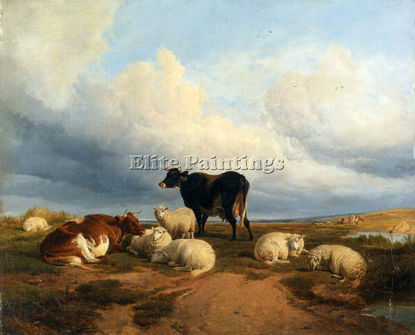 THOMAS SIDNEY COOPER CANTERBURY MEADOWS ARTIST PAINTING REPRODUCTION HANDMADE