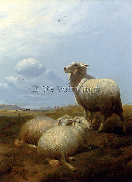 THOMAS SIDNEY COOPER SHEEP AT PASTURE ARTIST PAINTING REPRODUCTION HANDMADE OIL