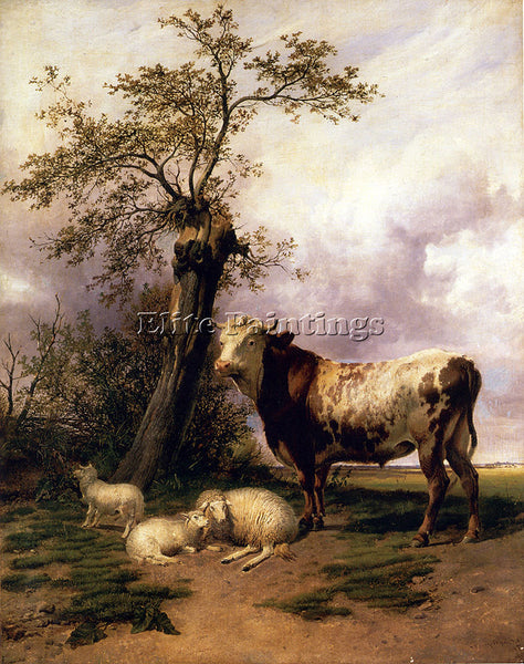 THOMAS SIDNEY COOPER THE LORD OF THE PASTURES ARTIST PAINTING REPRODUCTION OIL