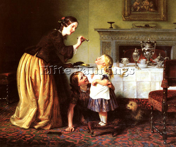 CHARLES WEST COPE BREAKFAST TIME ARTIST PAINTING REPRODUCTION HANDMADE OIL REPRO