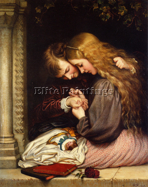 CHARLES WEST COPE THORN 1866 ARTIST PAINTING REPRODUCTION HANDMADE CANVAS REPRO