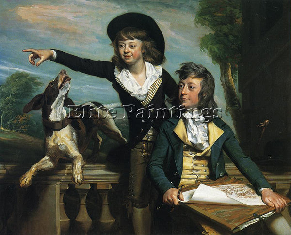 SINGLETON COPLEY CHARLES CALLIS WESTERN AND HIS BROTHER SHIRLEY WESTERN PAINTING