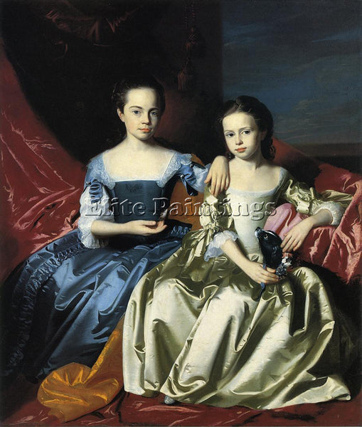 JOHN SINGLETON COPLEY MARY AND ELIZABETH ROYALL ARTIST PAINTING REPRODUCTION OIL