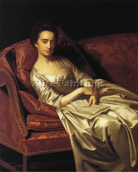 JOHN SINGLETON COPLEY PORTRAIT OF A LADY ARTIST PAINTING REPRODUCTION HANDMADE