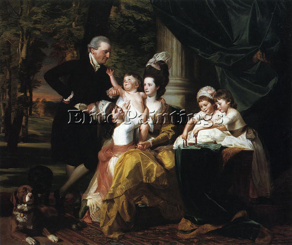 JOHN SINGLETON COPLEY SIR WILLIAM PEPPERRELL AND FAMILY ARTIST PAINTING HANDMADE