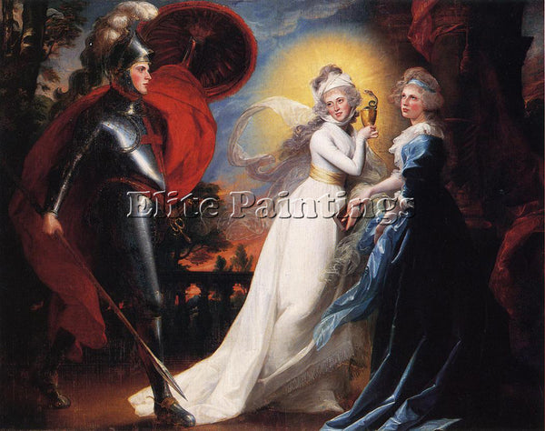 JOHN SINGLETON COPLEY THE RED CROSS KNIGHT ARTIST PAINTING REPRODUCTION HANDMADE