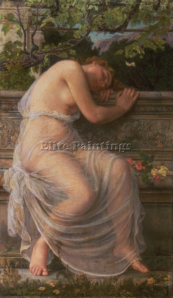 BRITISH CORBET EDITH THE SLEEPING GIRL ARTIST PAINTING REPRODUCTION HANDMADE OIL