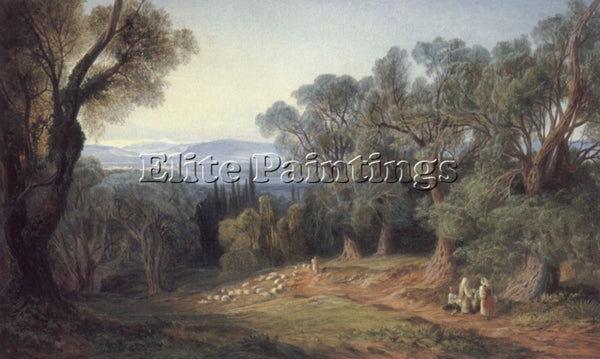 EDWARD LEAR CORFU AND THE ALBANIAN MOUNTAINS 1 ARTIST PAINTING REPRODUCTION OIL