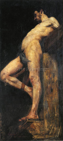 LOVIS CORINTH CRUCIFIED THIEF ARTIST PAINTING REPRODUCTION HANDMADE CANVAS REPRO