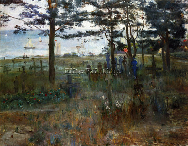 LOVIS CORINTH FISHERMEN S CEMETERY AT NIDDEN ARTIST PAINTING HANDMADE OIL CANVAS