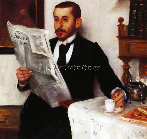 LOVIS CORINTH PORTRAIT OF THE PAINTER BENNO BECKER ARTIST PAINTING REPRODUCTION