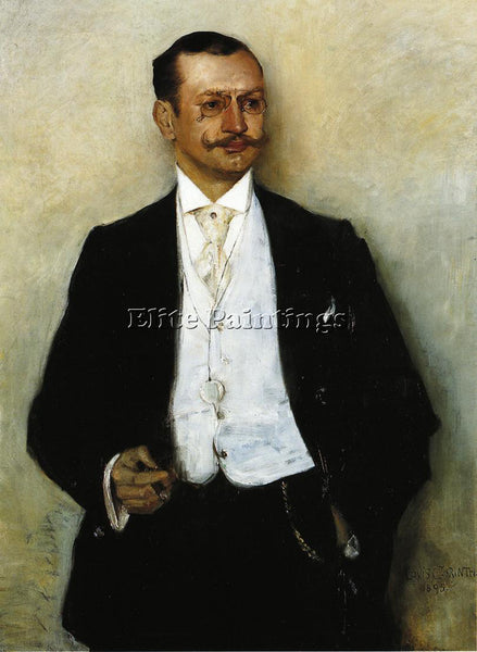 LOVIS CORINTH PORTRAIT OF THE PAINTER KARL STRATHMANN ARTIST PAINTING HANDMADE