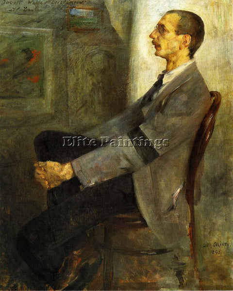 LOVIS CORINTH PORTRAIT OF THE PAINTER WALTER LEISTILOW ARTIST PAINTING HANDMADE