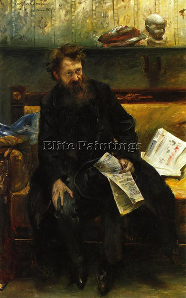 LOVIS CORINTH PORTRAIT OF THE POET PETER HILLE ARTIST PAINTING REPRODUCTION OIL
