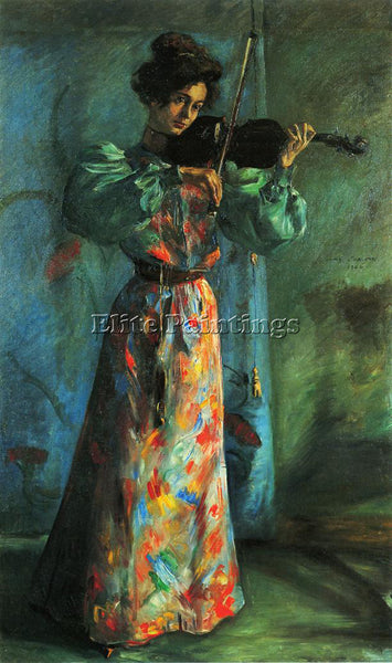 LOVIS CORINTH THE VIOLINIST ARTIST PAINTING REPRODUCTION HANDMADE OIL CANVAS ART