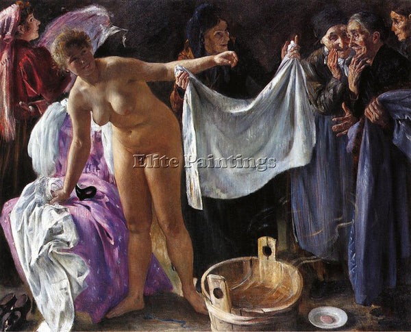 LOVIS CORINTH WITCHES ARTIST PAINTING REPRODUCTION HANDMADE OIL CANVAS REPRO ART