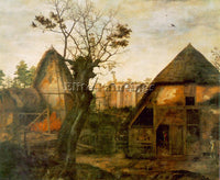 BELGIAN CORNELIS VAN DALEM LANDSCAPE WITH FARM ARTIST PAINTING REPRODUCTION OIL