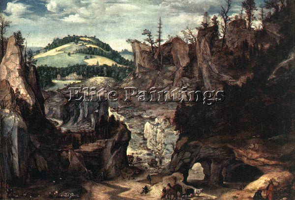 BELGIAN CORNELISVAN DALEM LANDSCAPE WITH SHEPHERDS ARTIST PAINTING REPRODUCTION