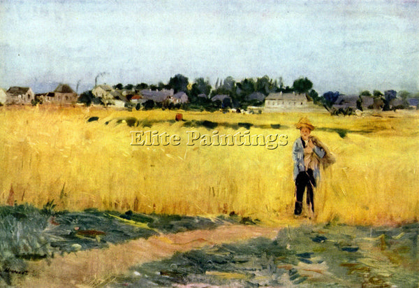 MORISOT CORNFIELD ARTIST PAINTING REPRODUCTION HANDMADE CANVAS REPRO WALL DECO