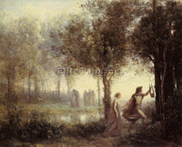 JEAN-BAPTISTE-CAMILLE COROT ORPHEUS LEADING EURYDICE FROM UNDERWORLD OIL CANVAS