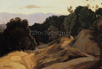 JEAN-BAPTISTE-CAMILLE COROT ROAD THROUGH WOODED MOUNTAINS ARTIST PAINTING CANVAS