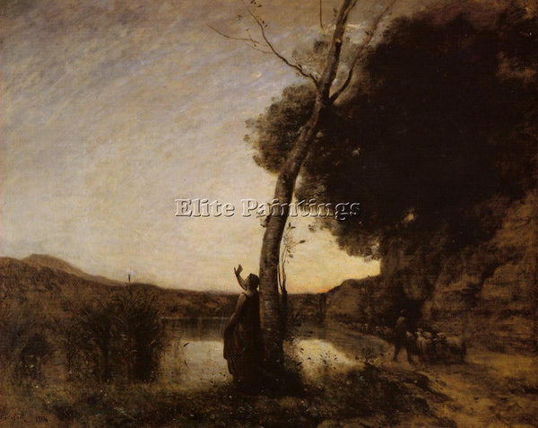 JEAN-BAPTISTE-CAMILLE COROT THE EVENING STAR ARTIST PAINTING HANDMADE OIL CANVAS