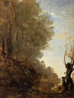 JEAN-BAPTISTE-CAMILLE COROT THE HAPPY ISLE ARTIST PAINTING REPRODUCTION HANDMADE