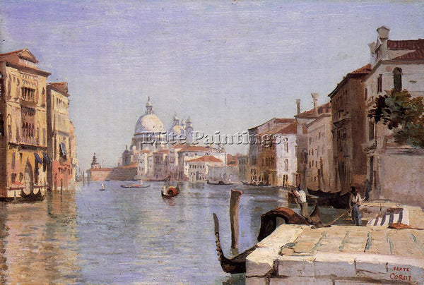 JEAN-CAMILLE COROT VENICE VIEW CAMPO DELLA CARITA FROM DOME SALUTE REPRODUCTION