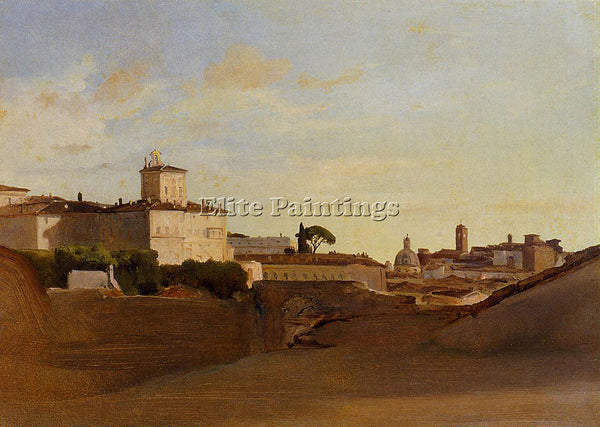 JEAN-BAPTISTE-CAMILLE COROT VIEW OF PINCIO ITALY ARTIST PAINTING HANDMADE CANVAS