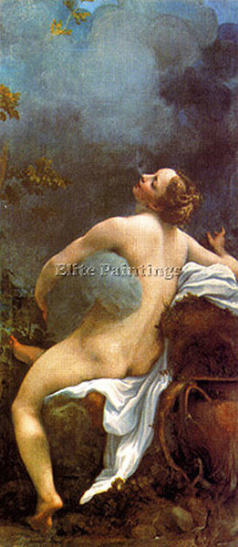 CHARLES WEST COPE CORREGGIO GIOVE E IO ARTIST PAINTING REPRODUCTION HANDMADE OIL