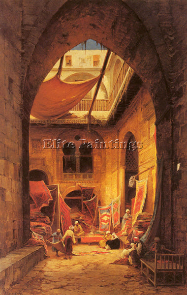 HERMANN DAVID SOLOMON CORRODI ARAB CARPET MERCHANTS ARTIST PAINTING REPRODUCTION