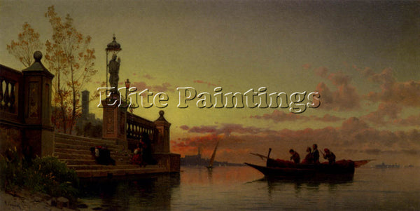 HERMANN DAVID SOLOMON CORRODI PRAYERS AT DAWN VENICE ARTIST PAINTING HANDMADE
