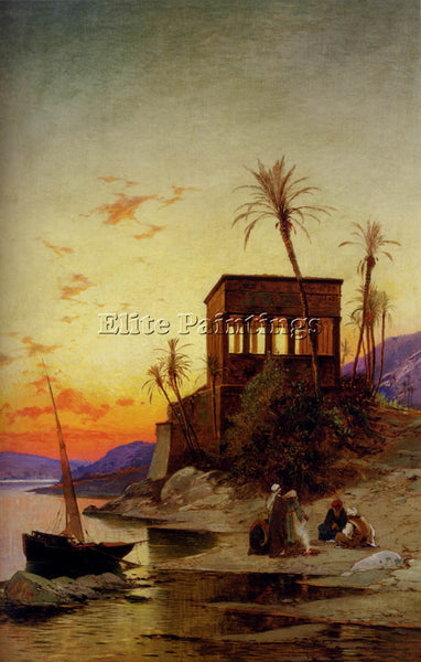 HERMANN DAVID SOLOMON CORRODI THE KIOSK OF TRAJAN PHILAE ON THE NILE OIL CANVAS