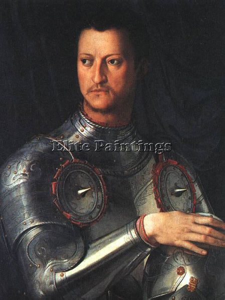 AGNOLO BRONZINO COSIMO DE MEDICI IN ARMOUR ARTIST PAINTING REPRODUCTION HANDMADE