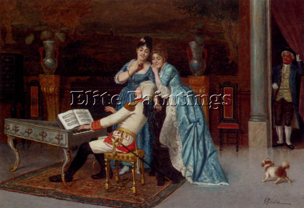 ANTONIO FABRES Y COSTA THE LOVE SONG ARTIST PAINTING REPRODUCTION HANDMADE OIL