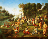 LORENZO COSTA THE GARDEN OF THE PEACEFUL ARTS ARTIST PAINTING REPRODUCTION OIL