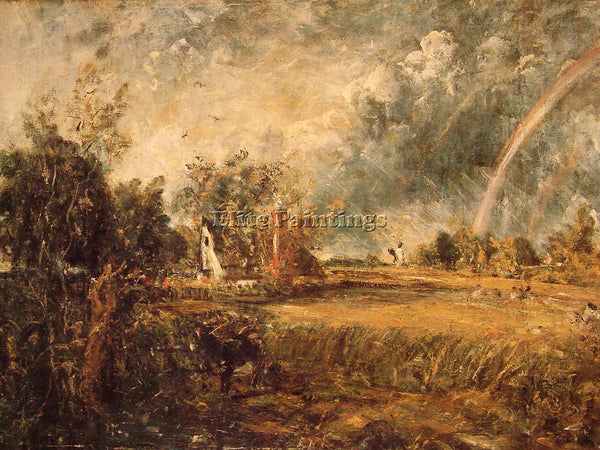 JOHN CONSTABLE COTTAGE RAINBOW MILL ARTIST PAINTING REPRODUCTION HANDMADE OIL