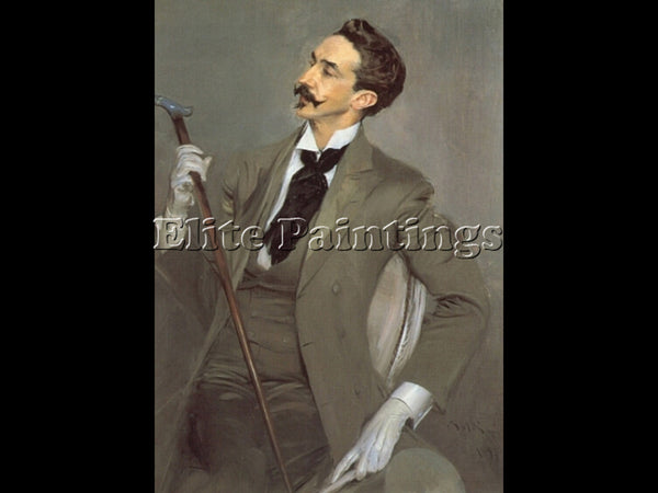 GIOVANNI BOLDINI COUNT ROBERT DE MONTESQUIOU ARTIST PAINTING HANDMADE OIL CANVAS