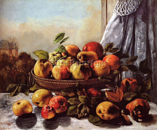 GUSTAVE COURBET STILL LIFE FRUIT ARTIST PAINTING REPRODUCTION HANDMADE OIL REPRO