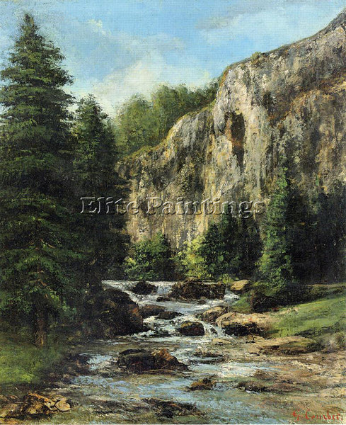 GUSTAVE COURBET STUDY FOR LANDSCAPE WITH WATERFALL ARTIST PAINTING REPRODUCTION