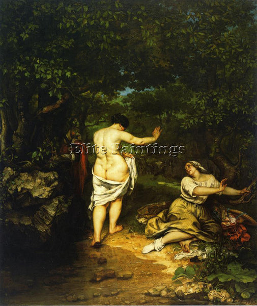 GUSTAVE COURBET THE BATHERS ARTIST PAINTING REPRODUCTION HANDMADE OIL CANVAS ART