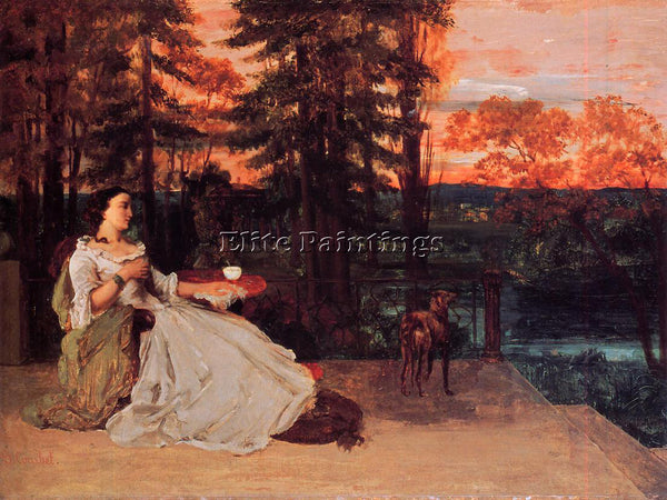 GUSTAVE COURBET THE LADY OF FRANKFURT 1858 ARTIST PAINTING REPRODUCTION HANDMADE