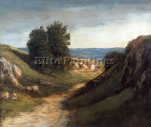 GUSTAVE COURBET PAYSAGE GUYERE ARTIST PAINTING REPRODUCTION HANDMADE OIL CANVAS