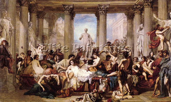 THOMAS COUTURE THE ROMANS OF THE DECADENCE ARTIST PAINTING REPRODUCTION HANDMADE
