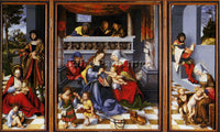 LUCAS CRANACH THE ELDER CRANACH LUCAS ALTAR OF THE HOLY FAMILY PAINTING HANDMADE