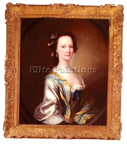 BRITISH CRANKE JAMES PORTRAIT OF MISS PARKER ARTIST PAINTING HANDMADE OIL CANVAS