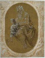 LORENZO DI CREDI STUDY FOR A READING APOSTLE OR EVANGELIST ARTIST PAINTING REPRO