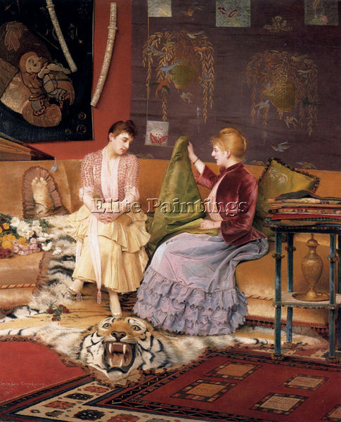 GEORGES CROEGAERT  A DIFFICULT DECISION ARTIST PAINTING REPRODUCTION HANDMADE