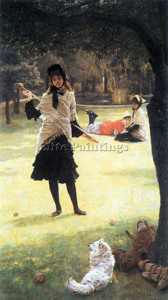 TISSOT CRICKET ARTIST PAINTING REPRODUCTION HANDMADE OIL CANVAS REPRO WALL  DECO