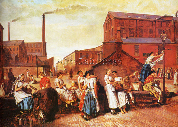 AMERICAN CROWE EYRE THE DINNER HOUR WIGAN ARTIST PAINTING REPRODUCTION HANDMADE